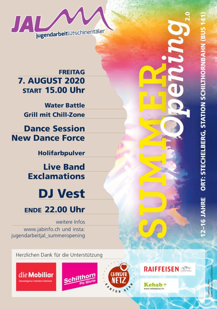Summer-Opening Jugendarbeit